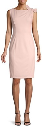 Calvin Klein Bow-Shoulder Sheath Dress