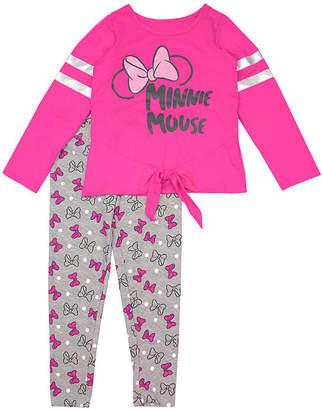 DISNEY MINNIE MOUSE Disney Girls 2-pc. Minnie Mouse Legging Set-Preschool