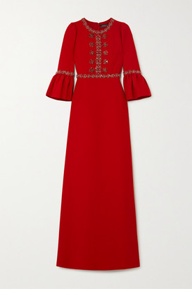 Andrew Gn Crystal-embellished Crepe Gown - Red