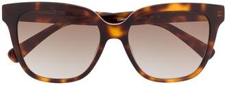 Longchamp tortoiseshell-effect tinted sunglasses