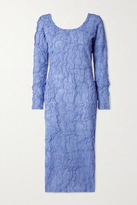 Kenzo Crinkled-chiffon Midi Dress - Blue