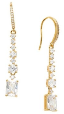 Eliot Danori Cubic Zirconia Linear Drop Earrings, Created for Macy's