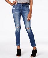M1858 Kristen Ripped Layered-Hem Skinny Jeans