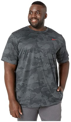 Nike Big Tall Dry Legend T-Shirt Camo All Over Print (Iron Grey/Black) Men's T Shirt