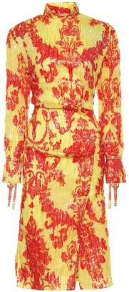 Acne Studios Printed silk-blend midi dress