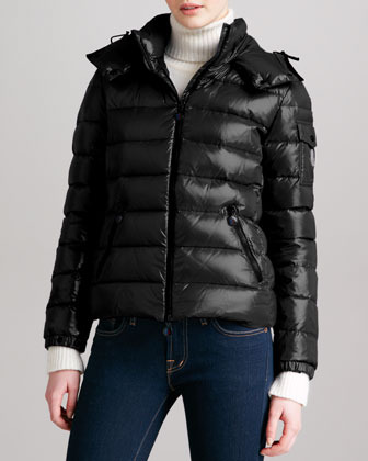 Moncler Short Puffer Jacket with Hood