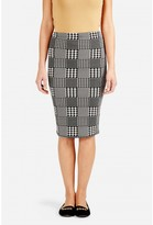 Select Fashion Fashion Womens Grey Pow Mono Check Midi Skirt - size 10