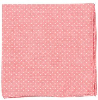 Tie Bar Summer Stars Red Pocket Square