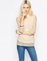 B.young High Neck Lace Top