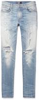 Amiri - Thrasher Skinny-fit Distressed Stretch-denim Jeans