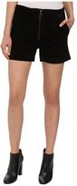 Blank NYC Suede High Rise Shorts with Zipper