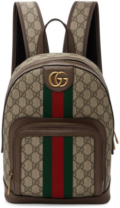Gucci Beige Small GG Ophidia Backpack