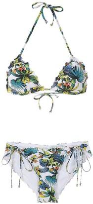 AMIR SLAMA Tropical Pattern Bikini Set