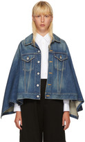 Junya Watanabe Indigo Denim Cape Jacket