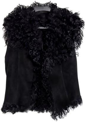 Ventcouvert Black Fur Coat for Women