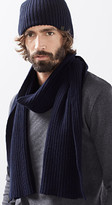 Esprit OUTLET ribbed cotton scarf with wool