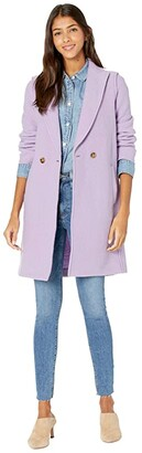J.Crew Daphne Topcoat in Italian Boiled Wool (Lavender Field) Women's Coat