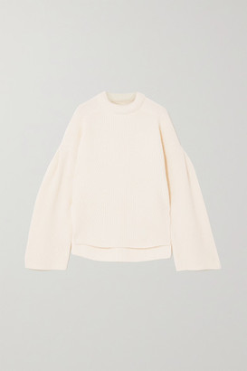 LOULOU STUDIO Gargalo Oversized Ribbed Wool And Cashmere-blend Sweater - Ivory