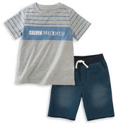 Calvin Klein Two-Piece Tee and Short Set