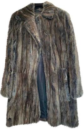 Louis Vuitton Brown Mink Coat for Women