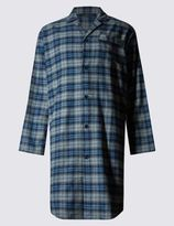 Marks and Spencer Pure Cotton Wincey Core Checked Nightshirt