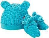 Zutano Cozie Fleece Hat & Bootie Set (Baby) - Pool-3 Months
