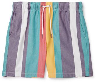 Aimé Leon Dore Striped Cotton Oxford Drawstring Shorts