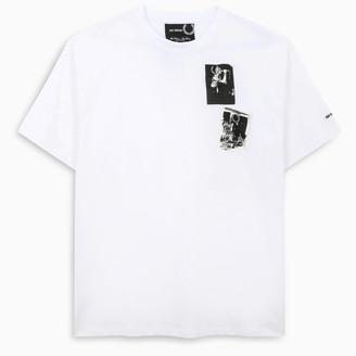 Fred Perry Raf Simons white print t-shirt