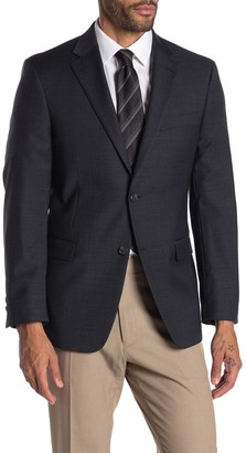 Tommy Hilfiger Gray Grid Two Button Notch Lapel Suit Separate Sport Coat