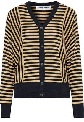 Sonia Rykiel Striped Silk And Cotton-blend Cardigan
