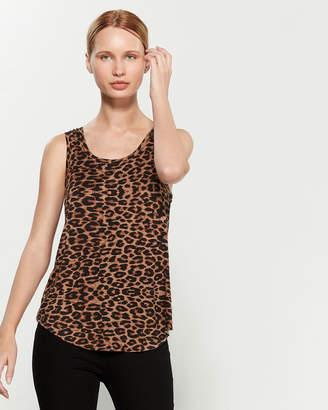 Buffalo David Bitton Chill Out Leopard Print Tank