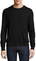 Burberry Richmond Check-Patch Cashmere-Blend Sweater, Black