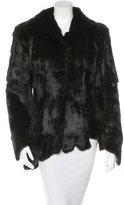 Asymmetrical Fur Coat