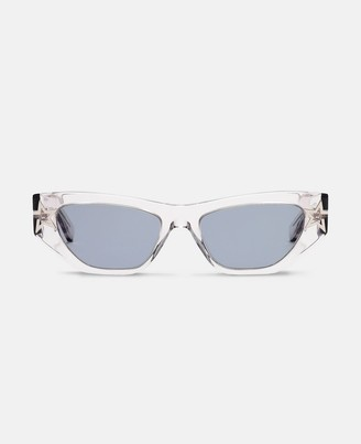Stella McCartney shiny transparent round sunglasses