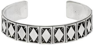 Emanuele Bicocchi Silver Rhombus Pattern Bracelet