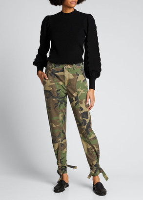 TRAVE Darcy Camo-Print Trousers with Cinched Cuffs