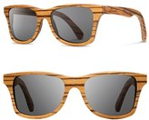 Shwood Men's 'Canby' 54Mm Polarized Wood Sunglasses - Zebrawood/ Brown
