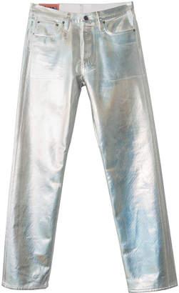 Acne Studios 1996 holographic foil classic fit jeans