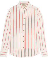 Awake Oversized Striped Jacquard Shirt - Ivory