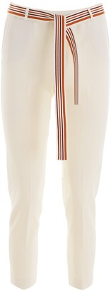 Loro Piana Striped Tie Belt Trousers
