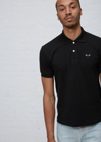 Comme des Garcons black play black heart polo