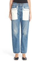 Helmut Lang Women's Inverted Pocket High Waist Jeans