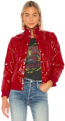 Chaser Shiny Vinyl Puffer Jacket