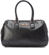 Folli Follie Black Reflections Snake-Embossed Tote