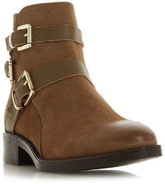 Dune London Pheonixx Buckle Detail Ankle Boots