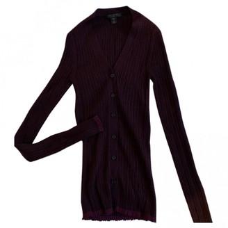 Louis Vuitton Burgundy Cotton Knitwear