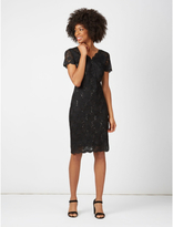 George Lace Sequin Midi Dress