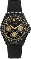 GUESS Women's Starlight Black Silicone Strap Watch 40mm U0846L1