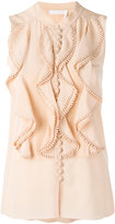 Chloé frill layered blouse - women - Silk/Cotton - 38