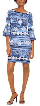 Jessica Howard Petite Bell-Sleeve Sheath Dress